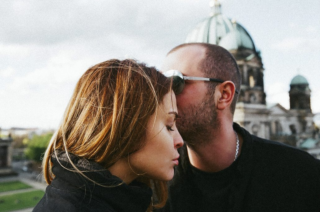 A couple on a Pictrip shoot with a Berlin Honeymoon Vacation travel family holiday photographer